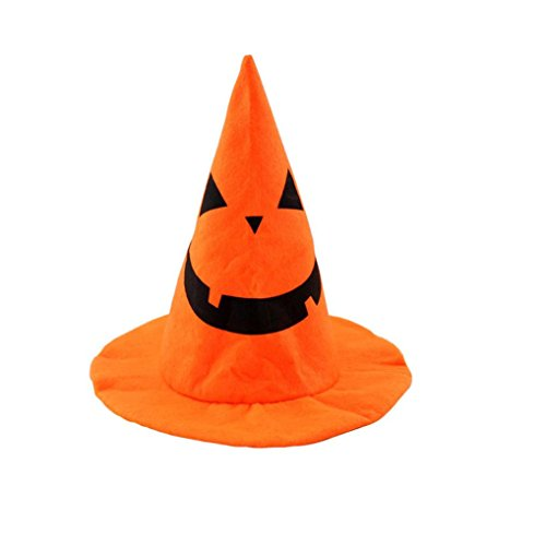 [Tenworld Costume Party Props Pumpkin Hat Halloween Party Accessory Witch Hat] (Unique Santa Costumes)