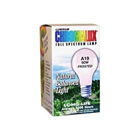  Light Bulb Frosted Full Spectrum (60 Watt) 1 Count