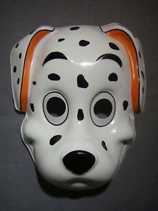 [DALMATIAN PUPPY DOG HALLOWEEN MASK PVC NEW CUTE SPOTS POLKA DOTS] (Dalmatians Costume Makeup)