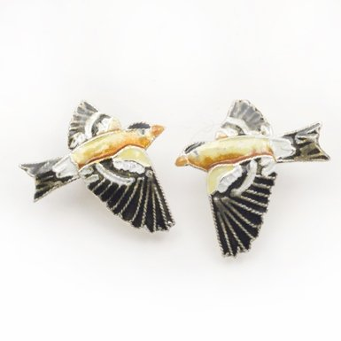 Goldfinch Stud Earrings||RF10F