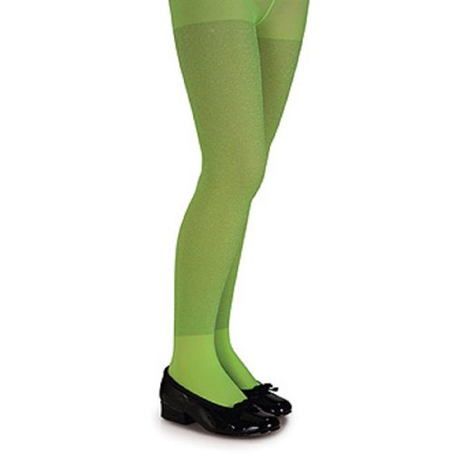 Rubie's Costume Co Glitter Tights-Lime Costume, Large