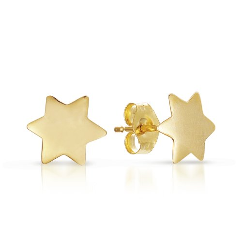A 14k Gold Children 'Star of David' Earring.