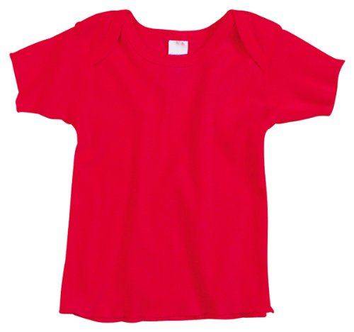 Rabbit Skins Infant Lap Shoulder T-Shirt, Red, 18 Months