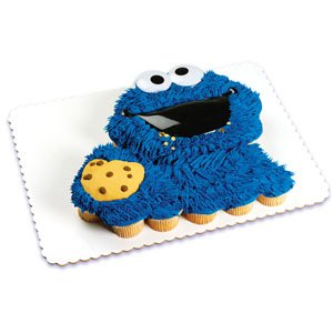 Cookie Monster Face Poptop Cake Topper ~ Designer Cake/Cupcake Topper ~ NEW ~... - 1
