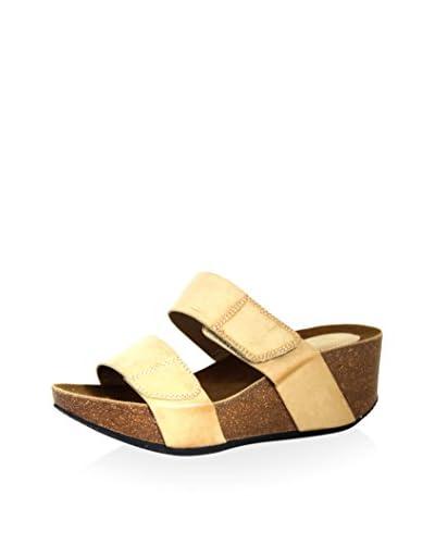 Intaglia Women's Baja Double Strap Cork Wedge Sandal