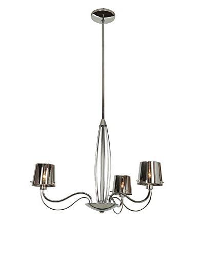 Access Lighting Milano 3-Light Chandelier, Chrome