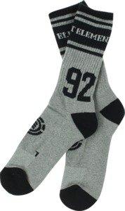 Element Cooper Grey / Black Crew Socks - 1 Pair