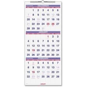 Amazon.com : Muro Vertical Calendario 2016, de 3 meses de referencia