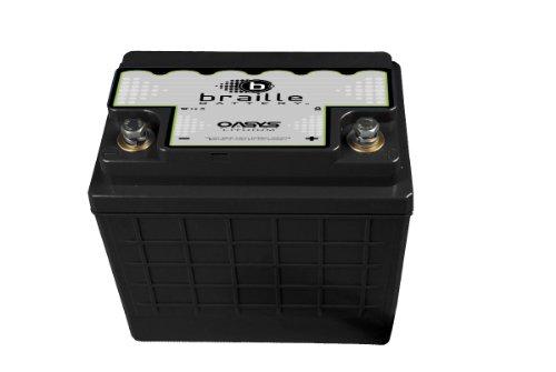 Braille Battery OSU1R-1245IB Oasys 12V 'Group U1R' Deep Cycle Energy Storage Battery