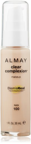 ALMAY Clear Complexion Makeup, Ivory, 1 Fluid Ounce