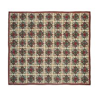 "Amazingly Red Quilt King 105""x 95"" QKAMRD by Patch Magic"