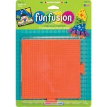 Perler Fun Fusion Bead Pegboards 5-1/2-Inch-By-5-1/2-Inch, 2-Pack, Square - Perler Fun Fusion Bead Pegboards 5-1/2-Inch-by-5-1/2-Inch, 2-Pack, Square