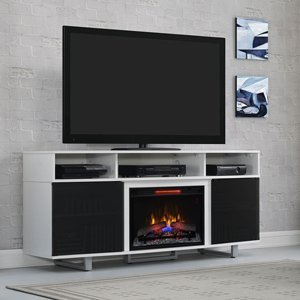 Classicflame Enterprise Lite Infrared Electric Fireplace Entertainment Center In White - 26Mm9665-Nw145