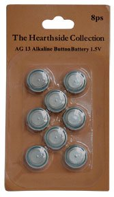 Ag 13 1.5V Replacement Button Cell Batteries Tealights Electrontics Watches Country Primitive Led Decor