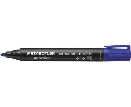 STAEDTLER Lot de 10 Marqueur Permanent Lumocolor 352 Bleu Pte Ogive