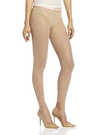 Betsey Johnson Women's Glitzy Gal Gem Legging, Nude, Small/Medium