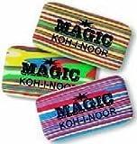 MAGIC Radiergummi von Koh-I-Noor - 3 Stück - 6516 - ideal für Graphitstifte aller Art.