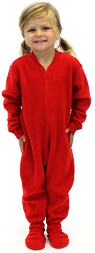 Sleepytme Infant Fleece Red Footed Pajama-12 front-857654