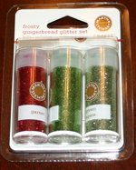 Martha Stewart Frosty Gingerbread Mini Glitter 4 Pcs
