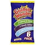 Golden Wonder Variety Crisps 6 X 25G