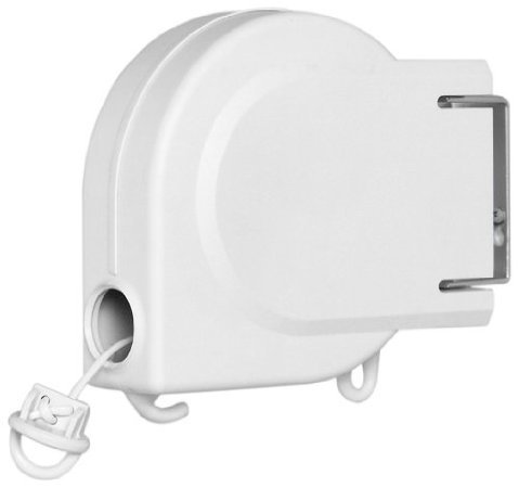Whitmor 6243-2513 20 Foot Retractable Clothesline, White front-613548