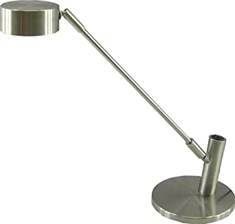 """Normande Lighting LED Desk Lamp. 14.5"""" in Height with Brushed Steel Finish"""