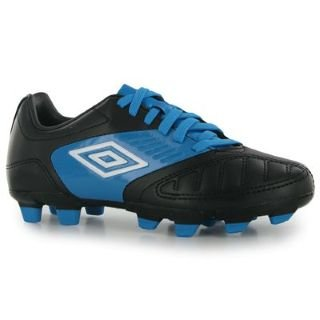 Umbro Geometra Cup FG Childrens Football Boots Black/White 11.5 Child UK UK