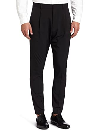 Calvin Klein Sportswear Men's Crop Pleat Tech Anti-fit Pant, Black, 31x30