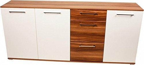 Sideboard-Anrichte-Kommode-Design-Sideboard-weiWalnuss-Nachbildung