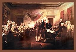 30 x 20 Stretched Canvas Poster Declaration of Independence