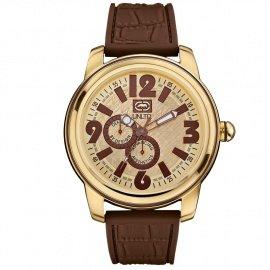 Marc Ecko E11512G1 - Reloj de pulsera unisex, silicona, color marrón