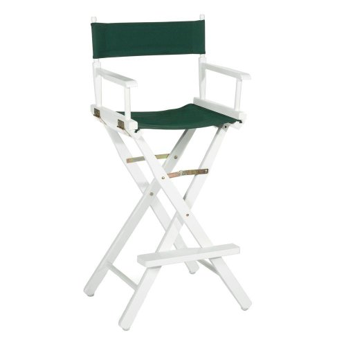 Directors Chair Tall Frame  Bar Stool Frame 30 H WHITEB0000CF5UH