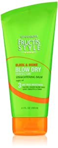 Garnier Blow Dry Perfector Straightening Balm, Sleek and Shine, 5.1 Fluid Ounce