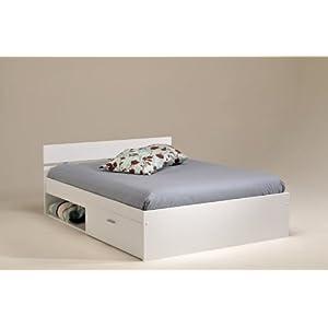 pharao24 bett mit bettkasten weiss ina 140x200 price bett. Black Bedroom Furniture Sets. Home Design Ideas