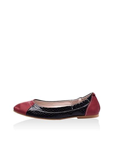 Lizza Shoes Bailarinas Lz-6153 Negro / Rojo