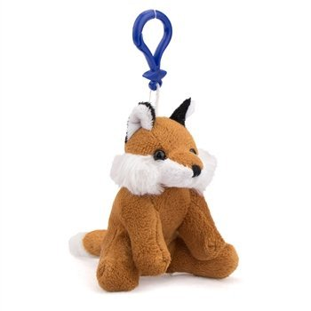Fox Plush Red Fox Stuffed Animal Backpack Clip Toy Keychain WildLife - 1