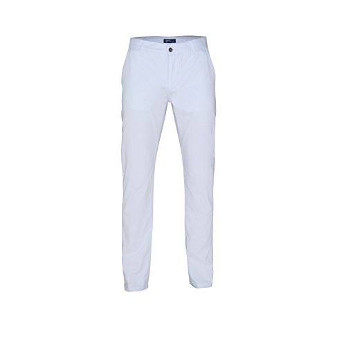 Asquith & Fox Mens Classic Casual Chino Pants/Trousers (MT) (White)
