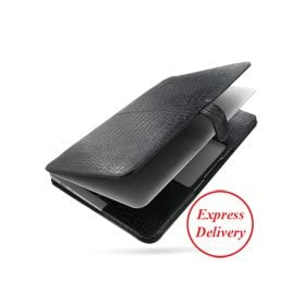 PDair BX1 Black Crocodile Leather Case for Apple New MacBook Air 2011 11