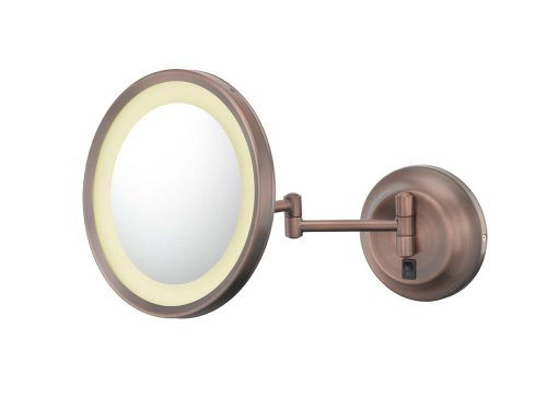 Kimball & Young Single-Sided Led Wall Mirror, Bronze front-1079254