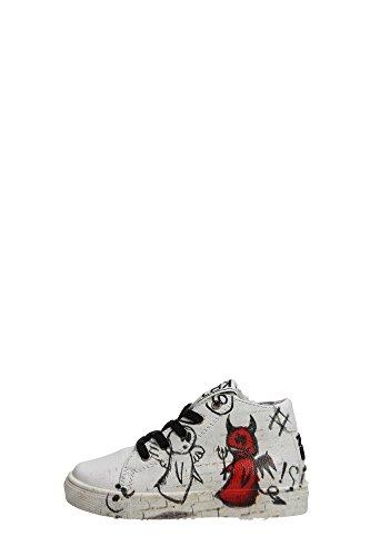 Kool 190.30 Sneakers Bambino Pelle Bianco Bianco 26