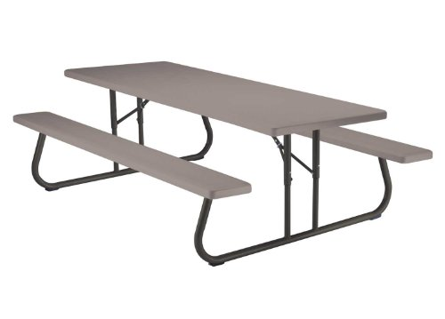 Best Prices! Lifetime 80123 Folding Picnic Table and Benches, 8 Feet