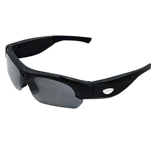Neelam S16 HD 720P 30FPS Eyewear Sunglasses with Camera Video Recorder DVR glasses Camcorder with 8G Card 5 Mega Pixels 1280X720 Sports Sunglasses (Black)