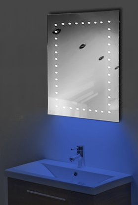 Ambient Shaver Led Bathroom Illuminated Mirror With Demister Pad & Sensor K167B