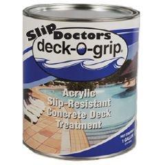 Slipdoctors Deck-O-Grip Grip Floor Treatment, 1 Gallon Bottle, Clear front-137232