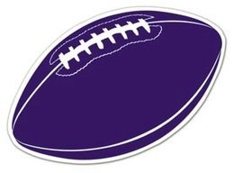 Purple Football Cutout