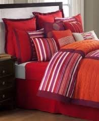 Sunham Trilogy 12 Piece King Comforter Set Orange Pink front-371620