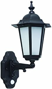 TP24 tp2797 Hanoi PIR Outdoor Light, Black Gloss Finish