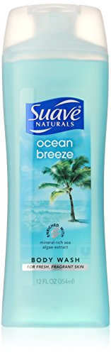Suave Naturals Body Wash Ocean Breeze - 12 Oz, Pack of 6