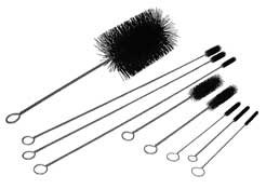 Engine cleaning brush kit includes nine assorted