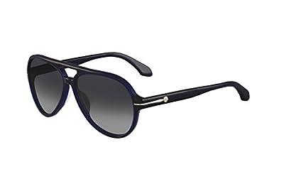 cK Men's Sun CK4191S 243 Blue Aviator 57mm Sunglasses